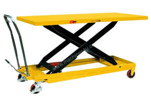 Huge Deck Size Scissor Lift Table with Foot Pump