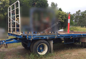 2000 Barker Two Axle Dog Trailer, Call EMUS