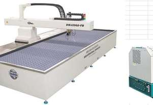 3-axis flying arm waterjet cutting machine DWJ-380-2060FB for glass cutting