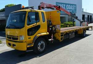 2009 MITSUBISHI FIGHTER FM Tray Top Crane Truck