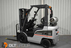 NISSAN P1F1A18DU 1.8 TONNE 4300 Lift Height 3 Stage Container Mast Forklift