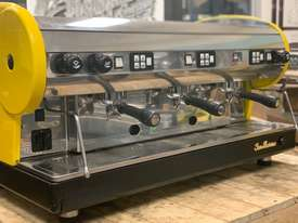 SAN MARINO LISA 3 GROUP YELLOW ESPRESSO COFFEE MACHINE - picture10' - Click to enlarge