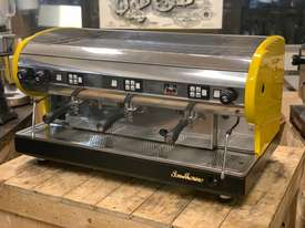 SAN MARINO LISA 3 GROUP YELLOW ESPRESSO COFFEE MACHINE - picture11' - Click to enlarge