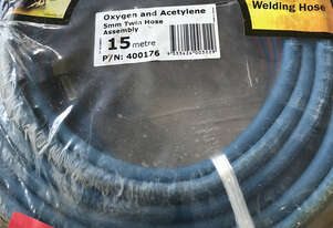 Bossweld Oxygen and Acetylene 5mm Twin Hose Assembly 15 metre 400176