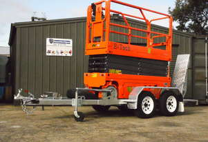 DINGLI E-TECH S0808-E ELECTRIC SCISSOR LIFT AND TRAILER PACKAGE