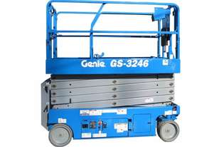 Genie GS 3246 Scissor lift with Galvanised Trailer