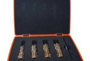 Core Drill Set 5 pce 30mm Cutting Depth Core Drill. In a Plastic carry case