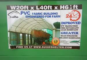 Single Trussed Container Shelter PVC Fabric