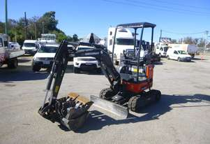 2019 Eurocomach ES 18 ZT Rubber Tracked Excavator with Push Blade & 3 Buckets - IN AUCTION