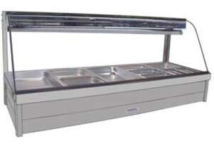Roband CFX25RD Curved Glass Cold Food Bar - Piped & Foamed Only