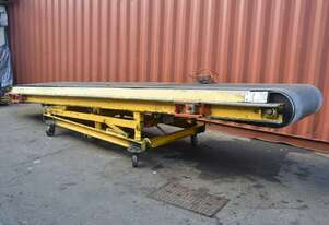 Powered rubber 910(w) belt Conveyor adjustable height & angle 3 phase 5400 long