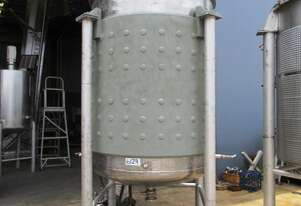 Pressure Vessel Tank (Stainless Steel Jacketed & Mixing), Capacity: 3,500Lt