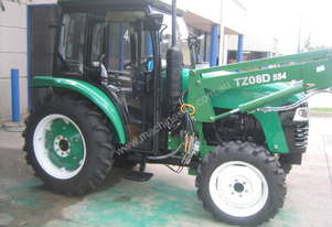 55hp 4WD Tractor + A/C Cabin & 4 in 1 F.E. Loader