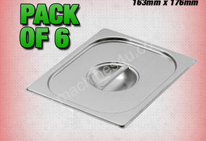 Fischer 6 PACK OF 1/6 GASTRONORM LID