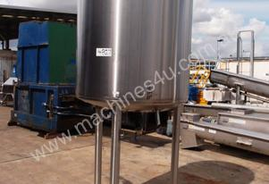 Stainless Steel Jacketed Tank - Capacity: 1,000Lt.