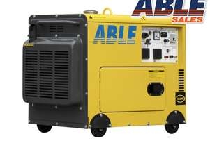6kVA Portable Diesel 240V in Canopy Single Phase Generator