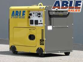 6kVA Portable Diesel Generator 240V in Canopy Single Phase - picture2' - Click to enlarge