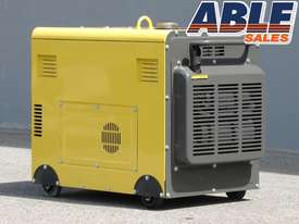 6kVA Portable Diesel Generator 240V in Canopy Single Phase - picture3' - Click to enlarge