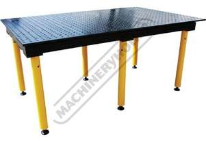 TMD626125F BuildPro Max Modular Welding Table - Standard Finish Reversible Table Plates 2550 x 1250