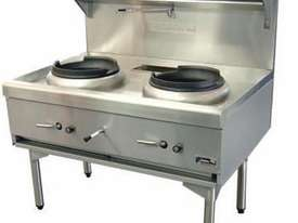 Goldstein CWA2 Air Cooled Gas Wok - Double - picture1' - Click to enlarge