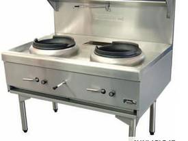 Goldstein CWA2 Air Cooled Gas Wok - Double - picture0' - Click to enlarge