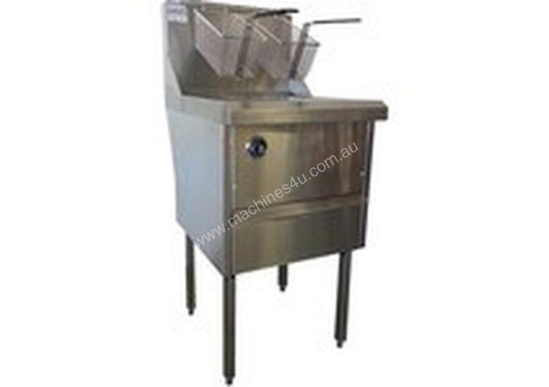 Complete WRF-1/12 Single Pan Fish and Chips Deep Fryer - 15 Liter Capacity