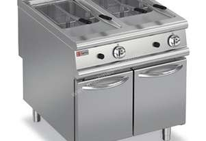 Baron 9FRI/G820 2 x 20L Double Pan Gas Deep Fryer