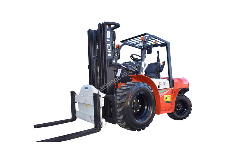 HELI 3.5T All Terrain Diesel Forklift Buggy with Rotator FOR SALE