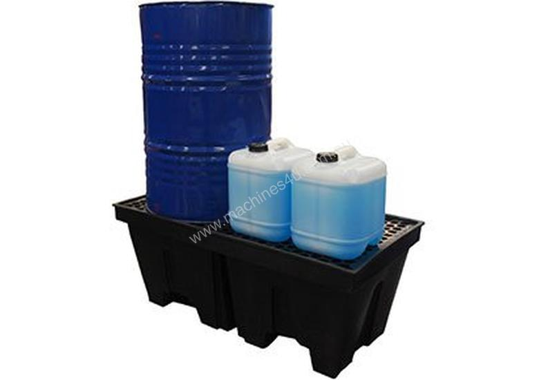 Drum Bunds & Spill Pallets. 2 drums - polyethylene with removable grate