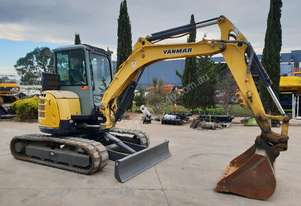 2012 YANMAR VIO45 EXCAVATOR WITH A/C CAB, QUICK HITCH AND BUCKETS.