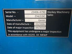 2006 Genie Z34 - 22 Articulating Boom EWP 4WD - picture11' - Click to enlarge