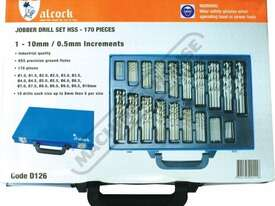 D126 Metric Precision HSS Drill Set - 170 Pieces Ø1 - Ø10mm 0.5mm Increments - picture5' - Click to enlarge
