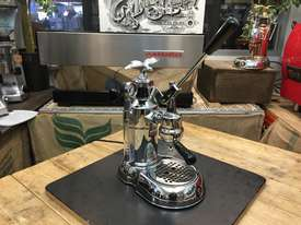 LA PAVONI LEVA MILANO 1 GROUP CHROME BRAND NEW ESPRESSO COFFEE MACHINE - picture0' - Click to enlarge