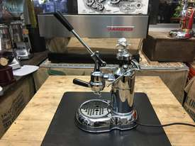 LA PAVONI LEVA MILANO 1 GROUP CHROME BRAND NEW ESPRESSO COFFEE MACHINE - picture4' - Click to enlarge