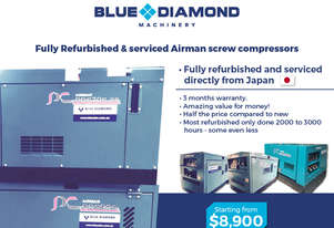 Airman Diesel  Screw Compressors - 70 -390 CFM Isuzu / Kubota - Comes with Warranty