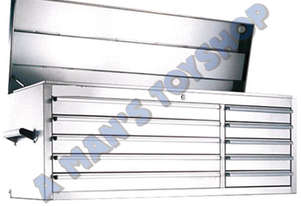 TOOLBOX 10 DRAWER 1370MM STAINLESS STEEL