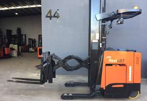 Raymond 750 DR32TT Double Deep Reach Stand-on Electric Truck, as in New Condition with Full Features