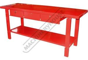 WBS-3D Steel Work Bench - 3 x Lockable Drawers 2000 x 640 x 870mm 500kg Table Top Load Capacity