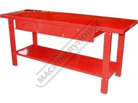 WBS-3D Steel Work Bench 2000 x 640 x 870mm 3 Lockable Drawers - picture0' - Click to enlarge