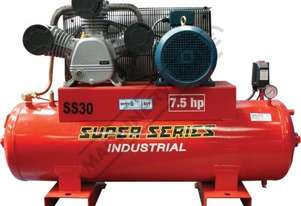 SS30 Industrial Air Compressor 150 Litre / 7.5hp 33cfm / 934lpm Displacement