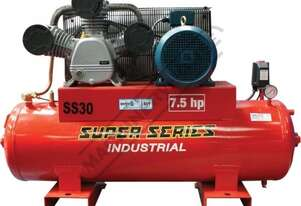 SS30 Industrial Air Compressor 150 Litre / 7.5hp 33cfm / 934lpm Piston Displacement