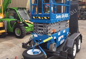 Genie GS1932 19 foot Scissor Lift & Trailer
