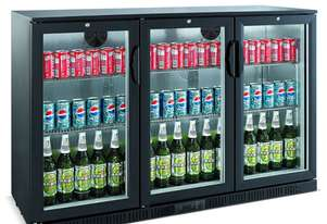 Bromic BB0330GD - Back Bar Glass Door Display Chiller - 307L (Hinged Door)