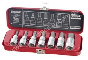 "7 PIECE 1/2"" DRIVE IN-HEX SOCKET SET - METRIC"