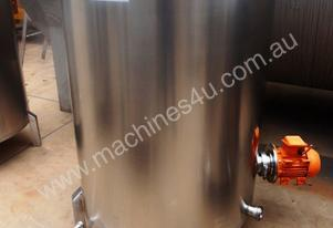 Stainless Steel Mixing Tank - Capacity 700 Lt