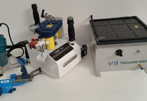 Portable  Straight & Contour Edgebander Trimmer Cutter Vacuum Table package BR500 (Free postage)