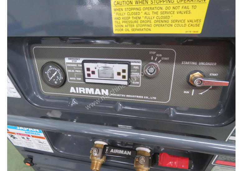 AIRMAN PDS75SC-5C1 75cfm Portable Diesel Air Compressor w/ Aftercooler