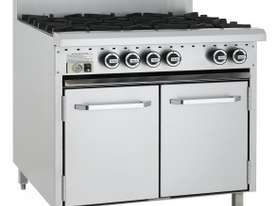 Luus Essentials Series 900 Wide Oven Ranges 6 burners & oven - picture1' - Click to enlarge