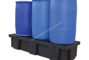 Drum Bunds & Spill Pallets. 3 drums - polyethylene with removable grates