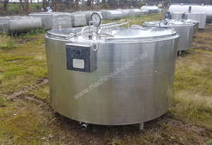 STAINLESS STEEL TANK, MILK VAT 1760 LT